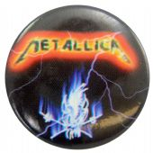 Metallica - 'Skull Lightning' Button Badge